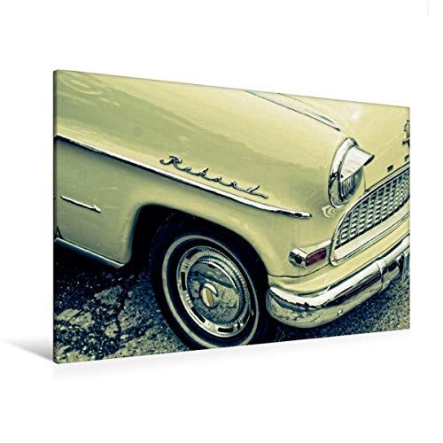 Premium Textil-Leinwand 120 x 80 cm Quer-Format Oldtimer Details | Wandbild, HD-Bild auf Keilrahmen, Fertigbild auf hochwertigem Vlies, Leinwanddruck von Peter Hebgen