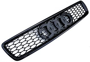 Euro RS4 Style Front Sport Mesh Honeycomb Grill S Line Black Rings For Audi A4 S4 B596-01