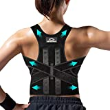 Sevensun Posture Corrector for Men and Women, Upper Back Straightener Brace Adjustable and Fully Back Support for Body Correction and Neck Pain Relief, Shoulder Lumbar Back Straightener Corrector