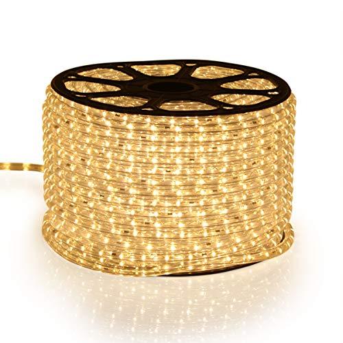 GreenSun LED Lichtschlauch, 720 LEDs Lichterschlauch IP65 Wasserdicht, LED Lichterkette Leiste LED Streifen LED Strip LED Band für Innen Außen Party Hochzeit Deko,50M,Warmweiß