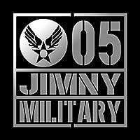 ミリタリー JIMNY ジムニー カッティング ステッカー シルバー 銀