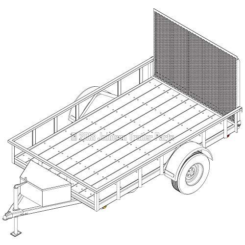 6′ x 10′ Utility Trailer Plans – 3,500 lb Capacity   Trailer Blueprints Model U72-120-35J