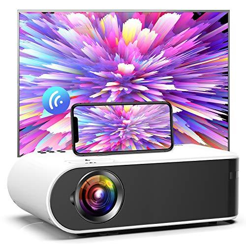 GooDee プロジェクター wifiプロジェクター 4800lm 1980*1080P最大解像度 小型 ホームプロジェクター 交換アタブター不要 ワイヤレスプロジェクター Android・iPhone TV-Box DVD PC PS4ゲーム機などに接続可