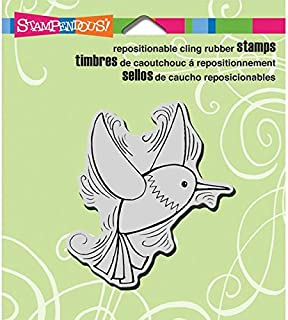 Stampendous Cling Rubber Stamp, Pen Pattern Hummingbird