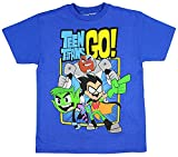 Teen Titans GO! Boys' Trio T-Shirt (Medium) Royal Blue