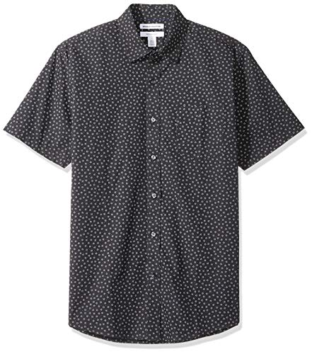 Amazon Essentials - Camiseta de manga corta con estampado para hombre, Small Floral, US S (EU S)