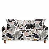 FANSU Funda de Sofá Elástica para Sofá de 1 2 3 4 Plazas, Ajustable Estilo Nórdico 3D Cubre Sofa, Antisuciedad Antideslizante Protector de Muebles (Piedras de Colores,1 plazas(90-140cm))