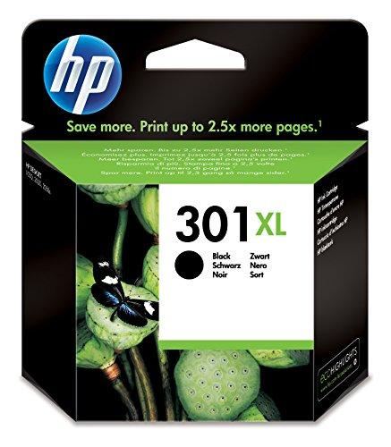 HP 301XL Black Ink Cartridge Schwarz – Tintenpatrone - Tintenpatronen (Schwarz, HP, Tintenstrahl, Schwarz, 8 ml, 20 – 80%)