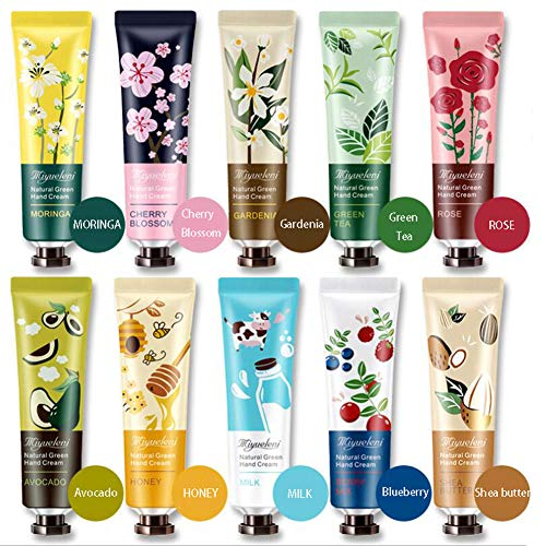 Ownest 10 Pack Plant Fragrance Hand Cream Moisturizing Hand Care Cream Travel Gift Set With Natural Aloe And Vitamin E For Men And Women30ml