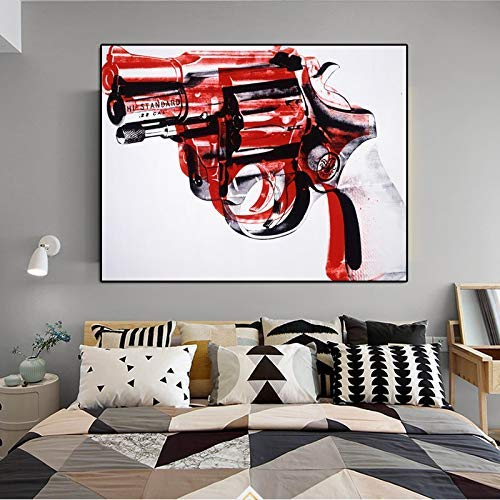 YIYEBAOFU Art Posters Oil painting still life abstract art spray canvas iron gem gun picture wall picture40x60cm(No frame)