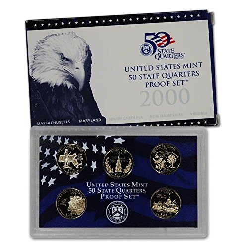 2000 S Clad Proof State Quarter Set OGP in box Proof