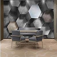 写真の壁紙3D立体空間カスタム大規模な壁紙の壁紙 六角リビングルーム現代リビングルームのテレビの背景寝室家の装飾壁画 -400X280cm(157 * 110インチ)