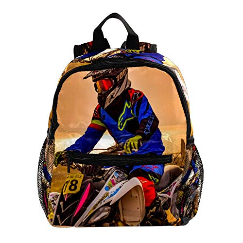 Kinderrucksack Motorrad Motocross Motorrad Rucksäcke für Kinder/Kleinkinder Jungen und Mädchen von 3-8 Jahren 25.4x10x30CM