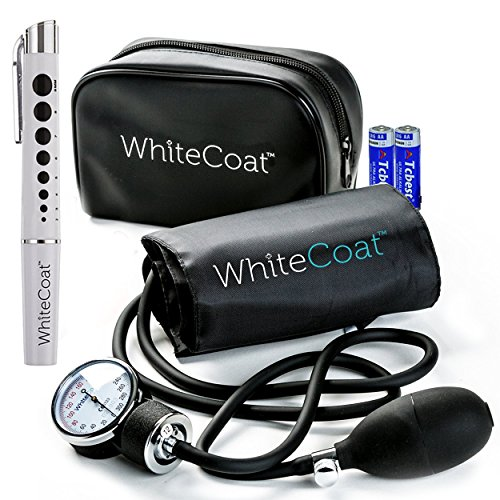 White Coat Manual Blood Pressure Cuff - Deluxe Aneroid...