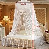 babytowns 250 * 60 cm Moskitonetz Groß Mückennetz,Insektennetz Betthimmel für Einzelbett, Feinmaschig Mesh,für Zuhause auch auf der Reise - 5