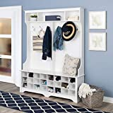 Prepac  60' 24 Shoe Cubbies Wide Hall Tree, White