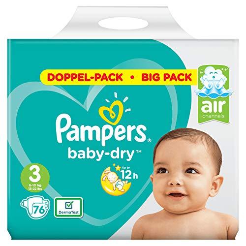 Pampers Baby-Dry Größe3, 76Windeln