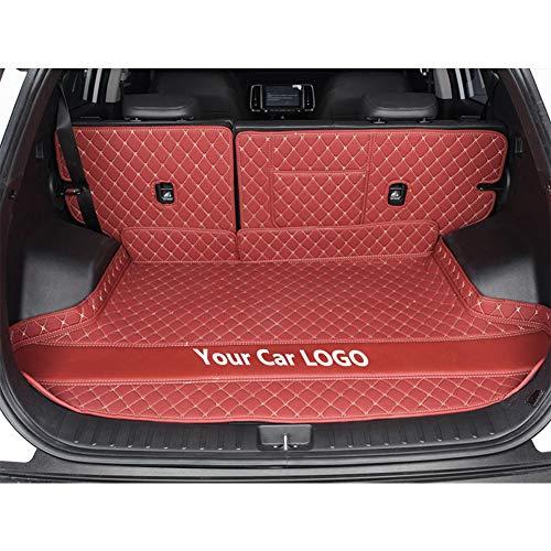 OEMC Auto Kofferraummatten - Leder Kofferraumwanne Maßgeschneidert Kompatibel mit to-yota Prado Die meisten Modelle, Rear Trunk mat mehrere Farben,E,Prado 7 Seats 2018
