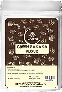 Naturevibe Botanicals Green Banana Flour (1lbs)- Gluten Free | Nutrition Rich | Helps Improve Digestion.