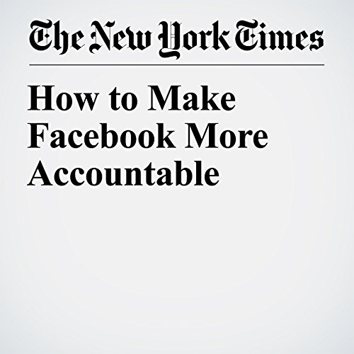 How to Make Facebook More Accountable audiobook cover art