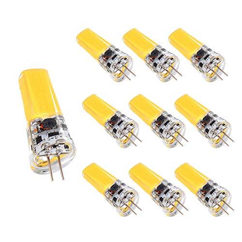 YQGOO Bombilla LED G4 5W T3, Bombilla halógena Equivalente a 50W, Bajo Consumo de energía 350Lm Bombilla Blanca fría de Alto Brillo Regulable JC Bi-Pin G4 Base de luz, Paquete de 10