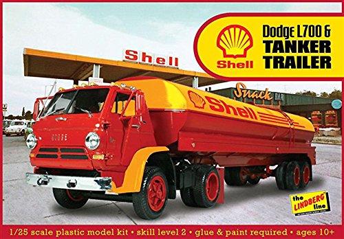 Lindberg Models Ln118 1 : 25 Scale Dodge L700 avec Coque Tanker Remorque modèle