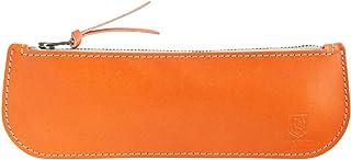 BlancCouture(ブラン・クチュール) ヌメ革ペンケース/薄型/国産フルタンニンドレザー (地中海オレンジ)