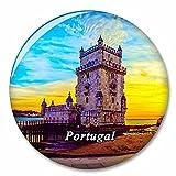 Portugal Torre de Belem Lisboa Imán de Nevera, imánes Decorativo, abridor de Botellas, Ciudad turística, Viaje, colección de Recuerdos, Regalo, Pegatina Fuerte para Nevera