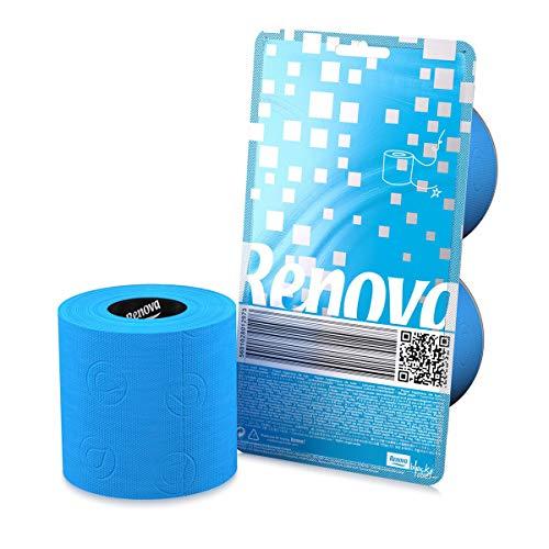 RENOVA Toilet Paper Crystal 2 Rolls Per-Pack - BLUE Toilet