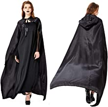 Full Length Hooded Robe Cloak Cosplay Costume for Women Adults Long Halloween Fancy Dress Wizard Costume for Halloween Chr...