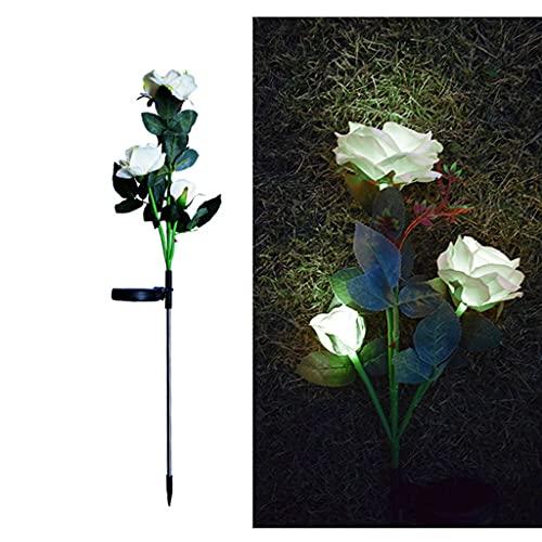 unknows 1 Pieza Impermeable IP65 Cinco Colores Rosa luz Solar para jardín al Aire Libre Luces Decorativas para jardín al Aire Libre Camino Patio y Patio