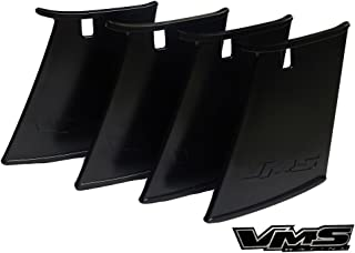 VMS RACING 4pc Four Rear Wing Spoiler STABILIZER Compatible with Subaru Impreza WRX STi 04 05 06 07 2004 2005 2006 2007 (Pack of 4)