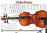 Violin Poster. Violine: Die tägliche Übung für Violinisten - alles Wichtige im Überblick!
