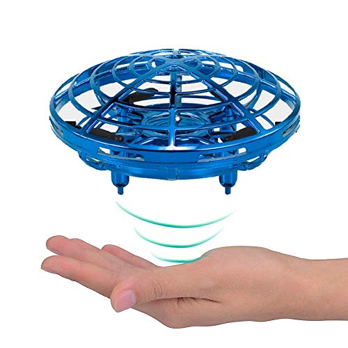 KOBWA Mini Drones for Kids UFO Drone Rechargeable Mini Quadcopter Motion Hand Controlled Drone Flying Toys with Led Light Beginner RC Helicopter Gifts for Children Kids Adults