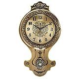 WJBHヨーロッパの壁時計リビングルームホーム現代のウォールチャートアメリカのスイング時計クリエイティブ人格ファッション北欧時計の高さ62センチ幅35センチ