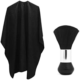 Professional Hair Salon Nylon Cape with Metal Adjustable Closure & Neck Duster, SourceTon Light Weight Extra LongCape (60...