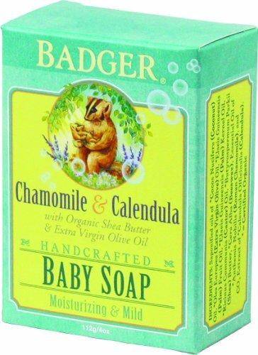 Badger Baby Soap - Organic Chamomile & Calendula (Baby/Babe/Infant - Little ones)