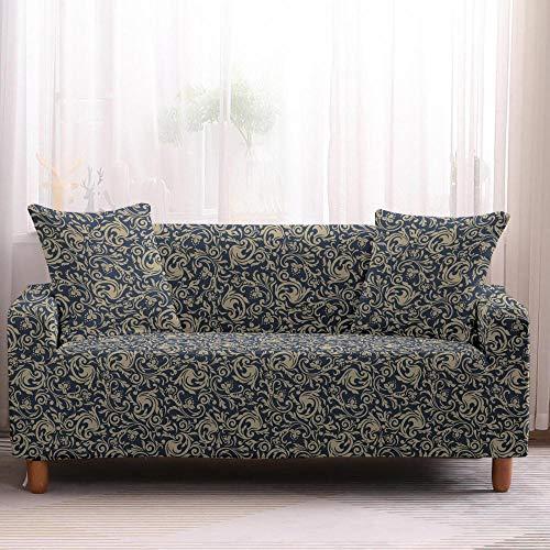 Funda de sofá todo incluido, antideslizante, estilo bohemio, elástica, para sofá de 3 plazas, color 4