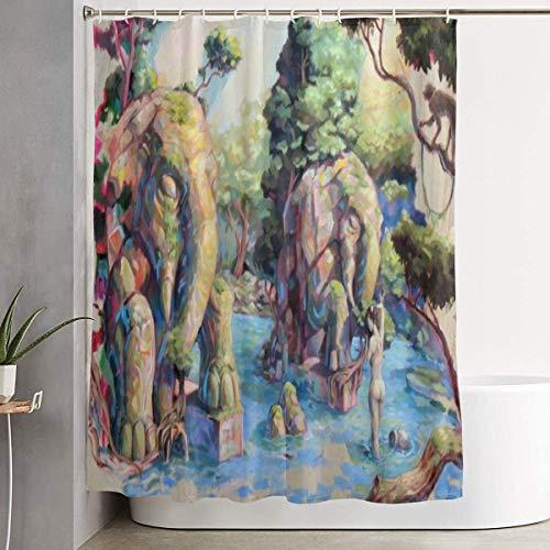 cortinas ducha elefantes