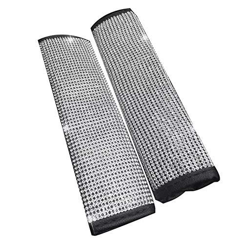 Ekakashop 2PCS Bling imbottiture per cintura di sicurezza per auto protezione per le spalle spalline per auto per bambini protezione per cintura di sicurezza traspirante in pelle PU