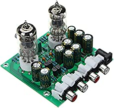 LaDicha Aassembled AC 12V 1A 6J1 Preamp Tube Preamp Amplifier Board Preamplifier Module Pre-Amp Headphone Bile Buffer Stereo Bass HiFi X10-D