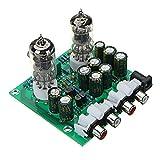 ROUHO Aassembled AC 12V 1A 6J1 Preamplificatore valvolare Preamplificatore Scheda Amplificatore PreAmplifier Modulo Pre-Amp Cuffie Bile Buffer Stereo Bass HiFi X10-D