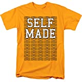 Monopoly Self Made Unisex Adult T Shirt for Men and Women, Gold, Small