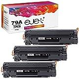 ejet 79A compatibles con HP 79A CF279A Cartuchos de tóner para HP LaserJet Pro M12 M12a M12w, HP LaserJet Pro MFP M26 M26a M26nw (3 negros)