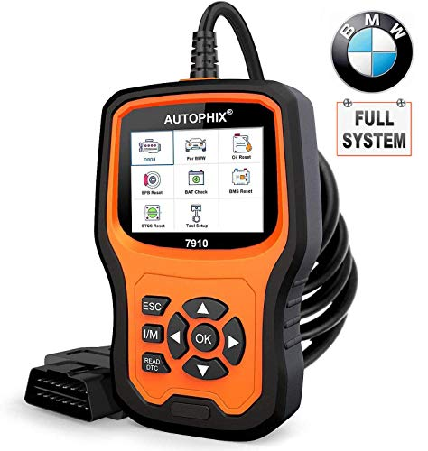 AUTOPHIX BMW Diagnostic Scanner Tool,Enhanced BMW 7910 Multi-System OBD2 Scanner Auto Fault Code Reader with Battery Registration for All BMW After 1998