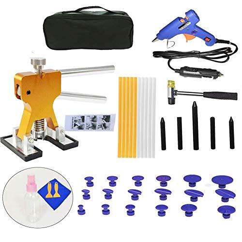Eenvoudige en snelle reparatieset voor lakreparatie, zonder autolak, 40 stuks/set, lijmpistool met lijmpistool voor lijmpistool met nylon hamer