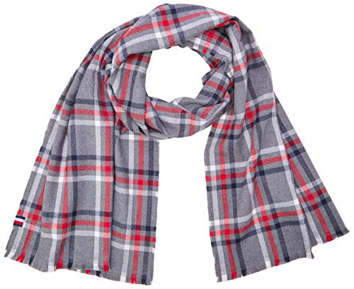 Tommy Hilfiger Herren Tailored Check Scarf Schal, Mehrfarbig (Multi 0Gn), One size