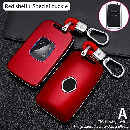 HXKGG Cover per chiavi auto Cover per telecomando Custodia per chiavi per auto.Per Renault Koleos Kadjar Scenic Megane Sandero Espace Clio Captur KangooLaguna Talisman Twingo Carbon Fibe Cover Red