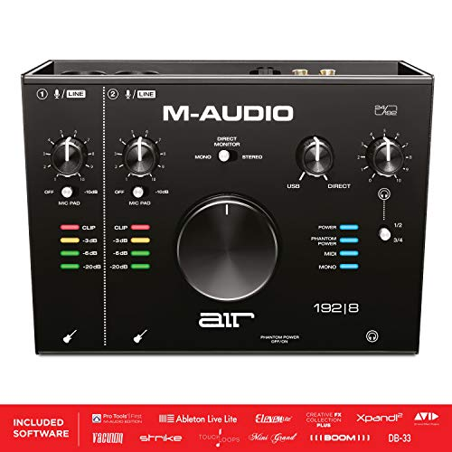 M-Audio AIR 192|8-2-in-4-out-USB audio/MIDI-interface met ProTools en Ableton Live Recording software met Studio Effecten en instrumenten