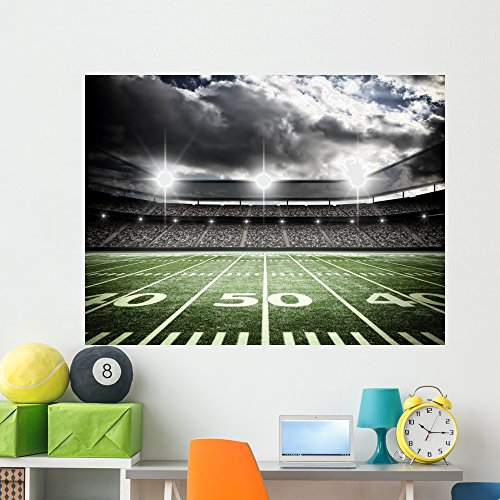 Wallmonkeys American Soccer Stadium Wall Mural Peel and Stick Graphic (60 in W x 45 in H) WM205708